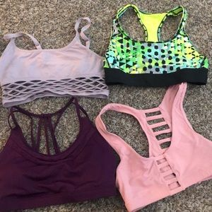 Bundle of Victoria Secret sports bras! Size small!